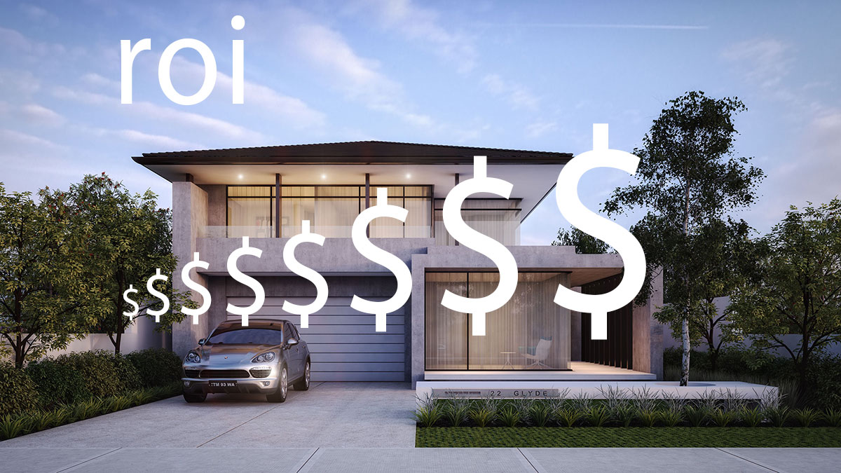 High Quality 3d rendering value roi