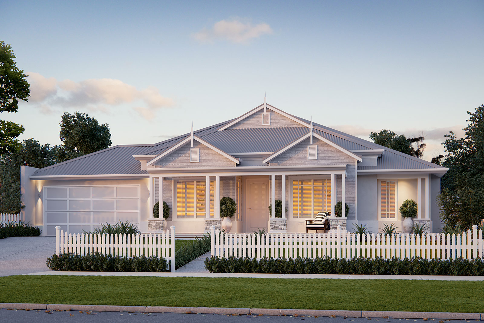ScreenAge 3d rendering hampdens style house