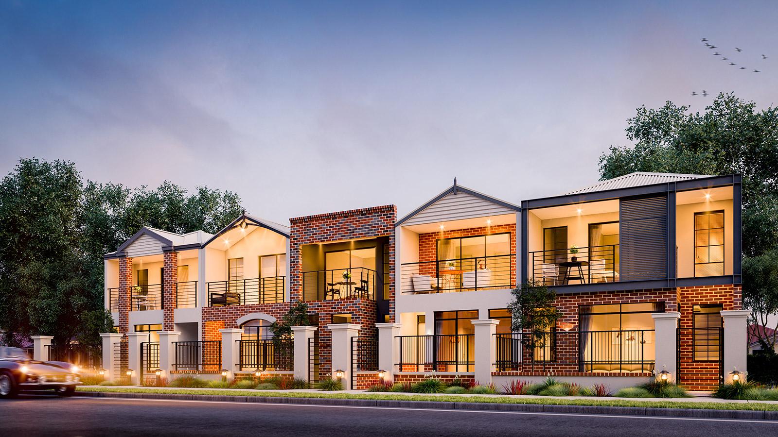 ScreenAge 3d rendering townhouses perth