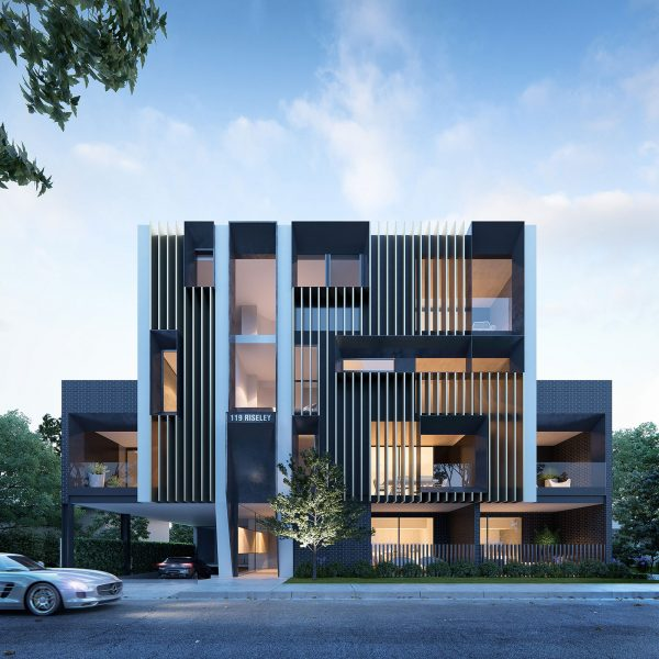 ScreenAge architectural visualisation external apartments perth
