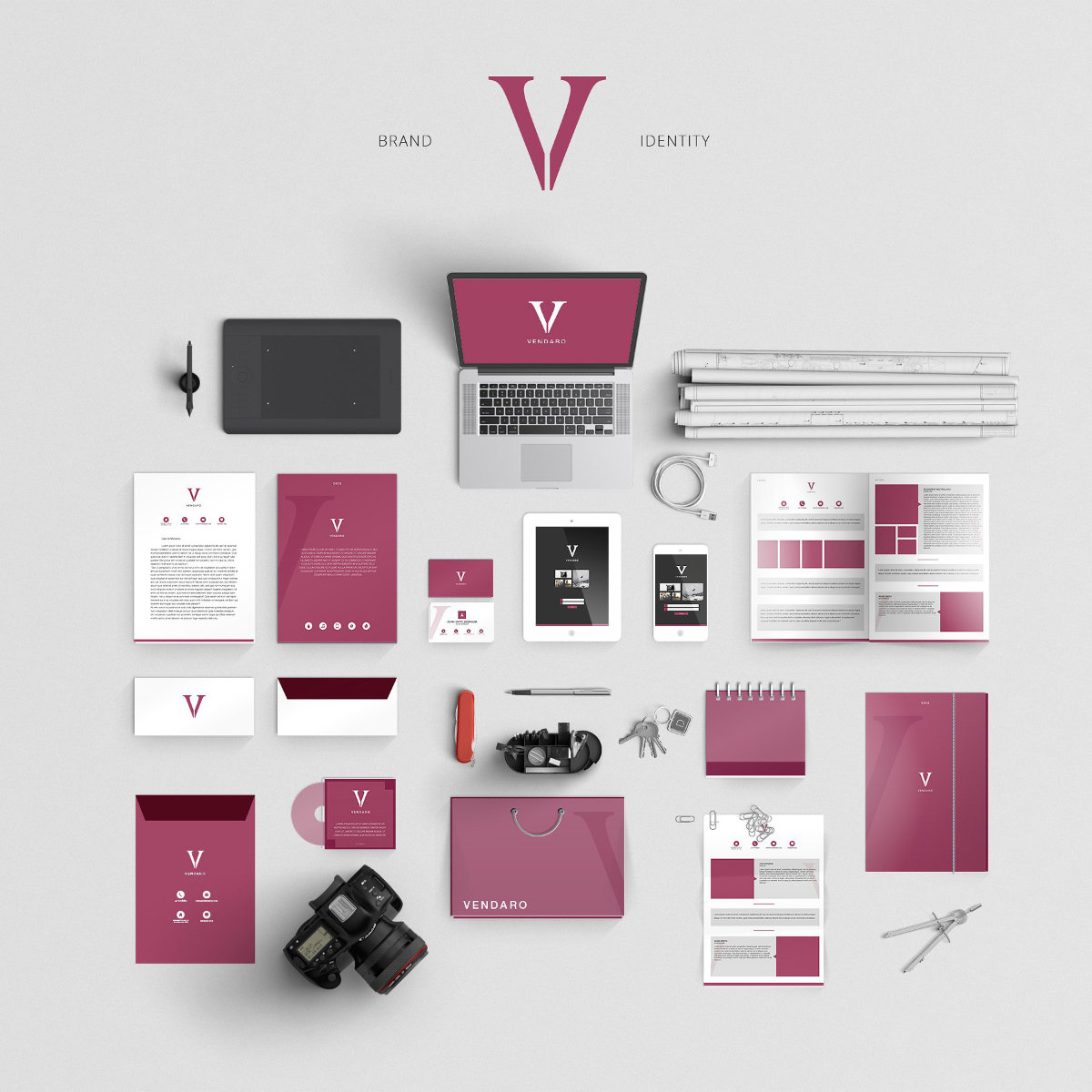 An example of a brand identity that should be used when considering how to best construct a 3d render.