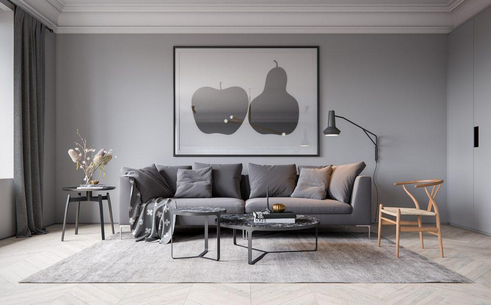 3d visualisation living room render ScreenAge