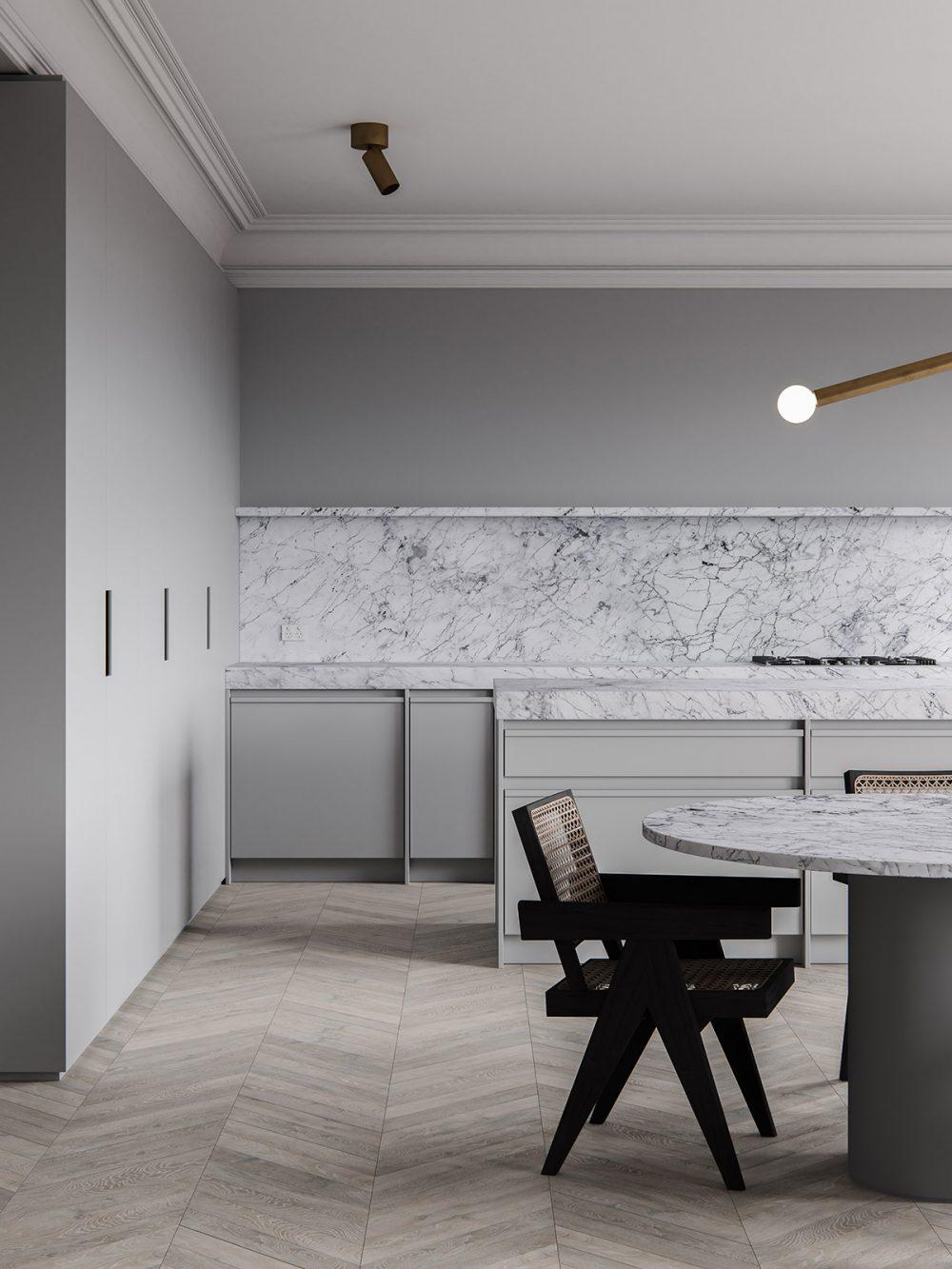 3d interior render. ScreenAge featured project - MIST Kitchen Hero